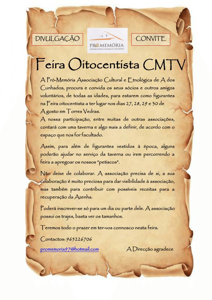 convite feira oitocentista