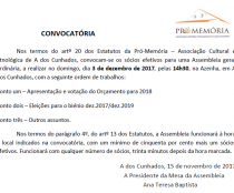 Assembleia Geral – 3 dezembro 2017